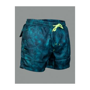 Men's Blue Patterned Sea Short - SH180001-114