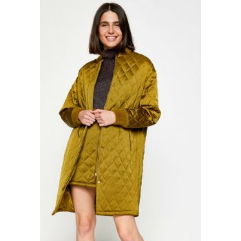 Women's Green Coat 8KAK06302EW