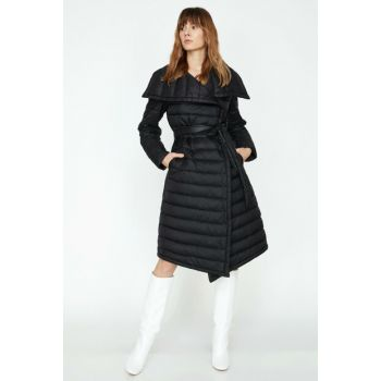 Women's Black Coat 9KAK06598GW
