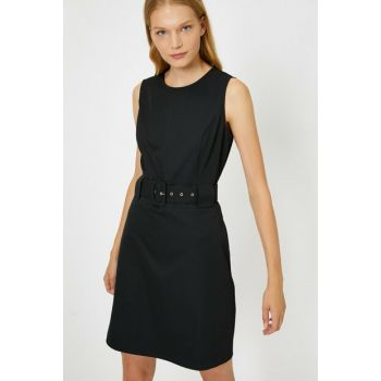 Women's Black Belt Detailed Dress 0KAK88250PW