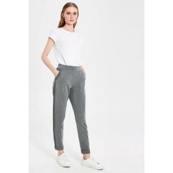 Women's Anthracite Melange Trousers 9WP419Z8