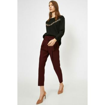 Women Burgundy Pants 0KAK42244UW