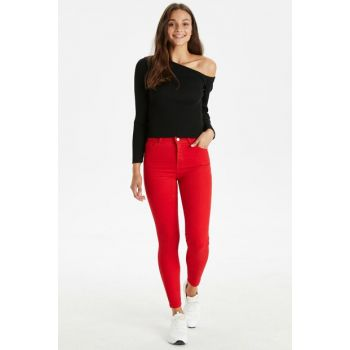 Women Red Trousers 9WK675Z8