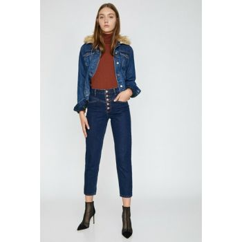 Women Blue Mom Jean Pants 0KAK47648MD