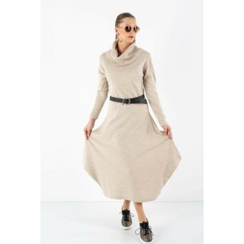 Women's Balloon Skirt Dress Beige 101221196107