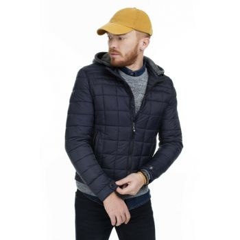 Hooded Slim Fit Inflatable Coat MALE MONT 216FP03W0