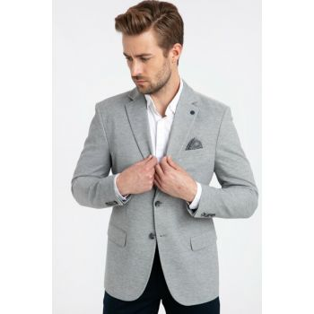 Men's Light Gray Blazer Jacket 9W2787Z8