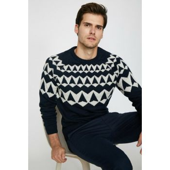Men's Navy Blue Pullover 0KAM91107GT