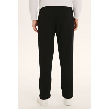 Men's Dark Black Trousers 9W3334Z8