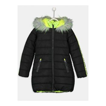 Girls' New Black Cvl Coat 9W6262Z4