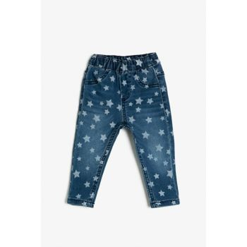 Blue Girl Trousers With Pocket Detail 0KMG49769OK