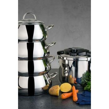 Everest 8 Piece Steel Cookware Set 600.01.01.0254