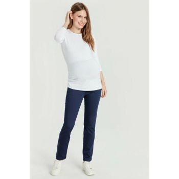 Women Navy Blue Hfh Maternity Clothing Pants 9W3224Z8