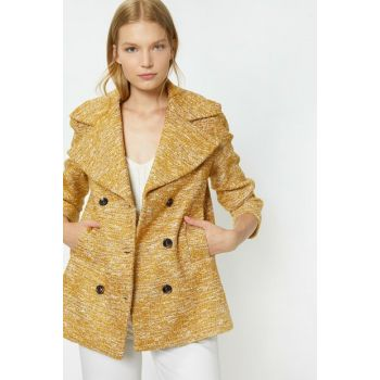 Women's Yellow Pattern Coat 9YAK06226EW
