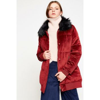 Women's Burgundy Coat 8KAK06152JW