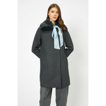 Women's Gray Coat 0KAK06534EW
