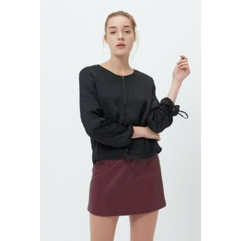 Women's Black Blouse 2017-0752-880