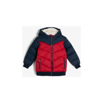 Red Child Hooded Coat 0KKB08134OW