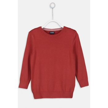 Boy Dark Orange H0K Sweater 9W1016Z4