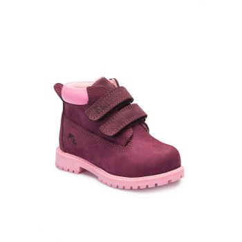 Genuine Leather Purple Unisex Children Boots A3374402