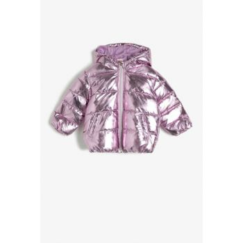 Pink Girl Hooded Inflatable Coat 0KMG27526OW