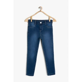 Blue Girl Trousers With Pocket Detail 9YKG47331OD