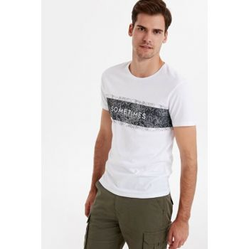 Men's White T-Shirt 9SC273Z8