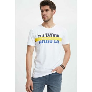 Men's White Printed T-shirt K7363AZ.19SM.WT34