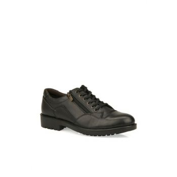 Genuine Leather Men Black Casual Shoes 93415 599146