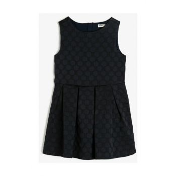 Navy Blue Child Patterned Dress 0KKG87986AW