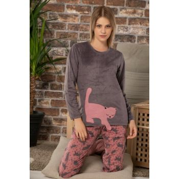 Women's Anthracite Softboa Welsoft Pajama Set 22354