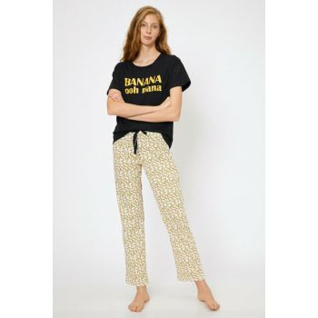 Women's Yellow Pajama Set 0KLK79114MK