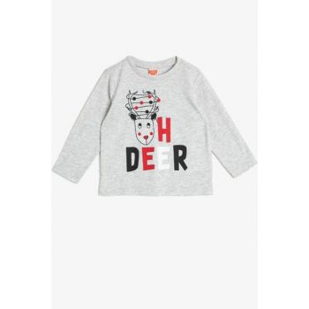 Gray Boy Printed T-Shirt 0KMB18228OK