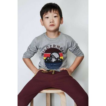 Boy Gray T-Shirt 19FW0NB3518