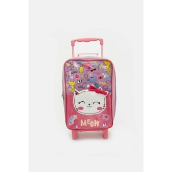 Girl Child Cat Patterned Squeegee Bag 9SJ409Z4