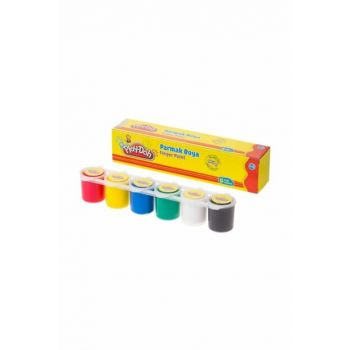 Play-Doh Finger Paint 6 Colors x 30 ml. Tracked Container PD.PR018
