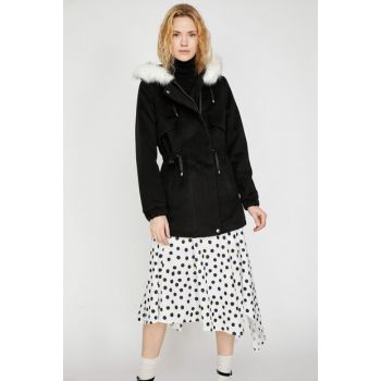 Women's Black Coat 9KAK08607OW