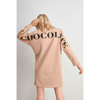 Camel Back Printed Knitted Dress TWOAW20EL2107