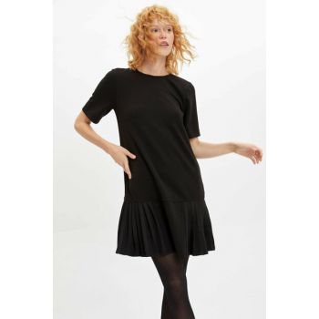 Women's Black Pleated Relax Fit Dress L9828AZ.19AU.BK27
