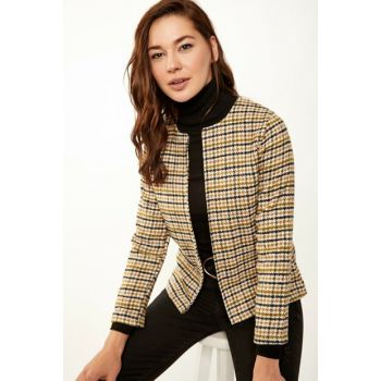 Women's Mix Lining Stamp Jacket BH00170