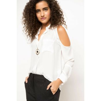 Women's Shoulder Detailed Shirt I1332AZ.17AU.WT52