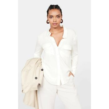 Women's Off White Pocket Shirt 53045727