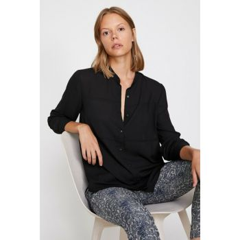 Women's Black Blouse Detail Blouse 0KAK68301PW