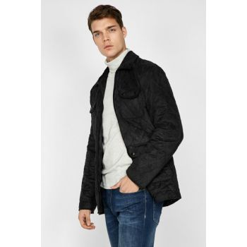Men's Black Pocket Detailed Coat 9KAM21126NW