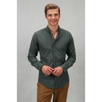 Classic Fit Green Men's Shirt KL200003-851