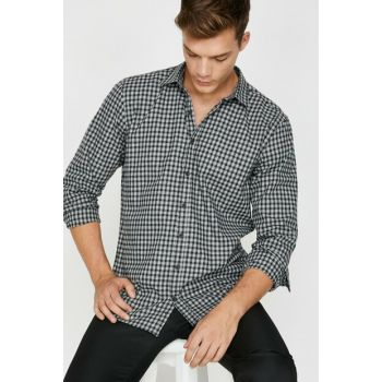 Men's Black Checked Shirt 0KAM64706LW