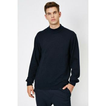 Men's Navy Blue Pullover 0KAM91859DT