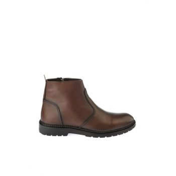Genuine Leather Brown Men Boots & Bootie 02BOY163080A480
