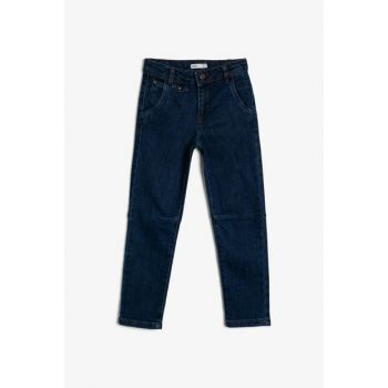 Blue Boy Trousers With Pocket Detail 0KKB46459TW
