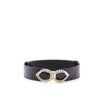 Embossed Snake Patterned Buckle Belt K-AW19027